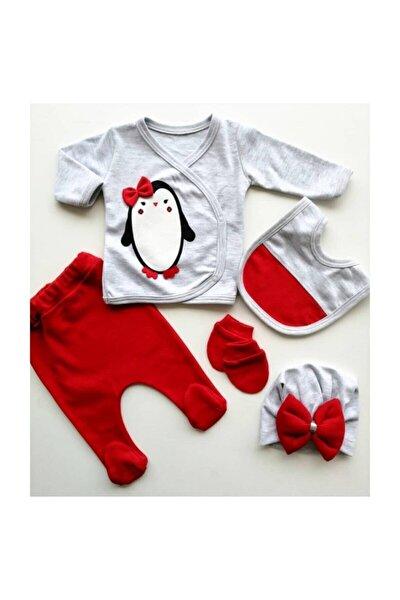 Kız Bebek Kırmızı 5 Parça Hastane Çıkışı Seti 1005651