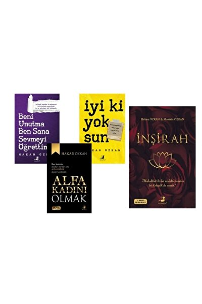 Hakan Özkan 4 Kitap Seti ( Inşirah-alfa Kadını Olmak- Iyi Ki Yoksun-beni Unutma )