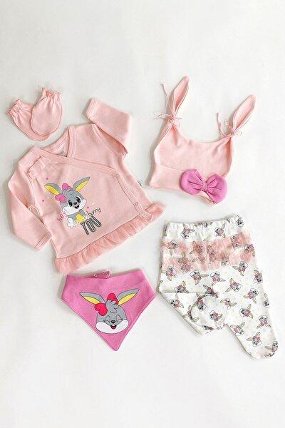 Kız Bebek Pembe Bunny 5'li Set