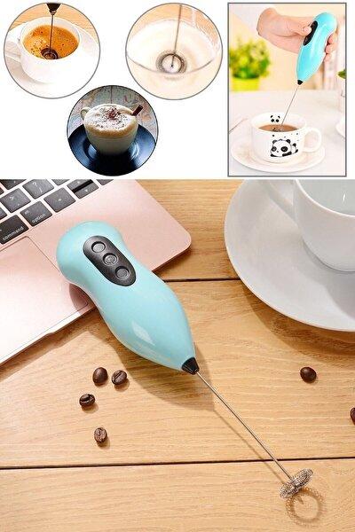Mini Yumurta Karıştırıcı Süt Köpürtücü El Mikseri Pilli Kahve Çırpıcı Telli Blender