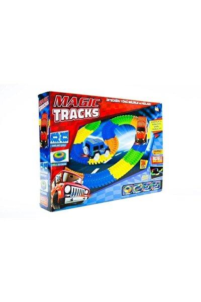 Kayyum Oyuncak Magic Tracks Hareketli Raylar 384 Parça 2 Işıklı Arabalı Oyuncak Yarış Parkuru
