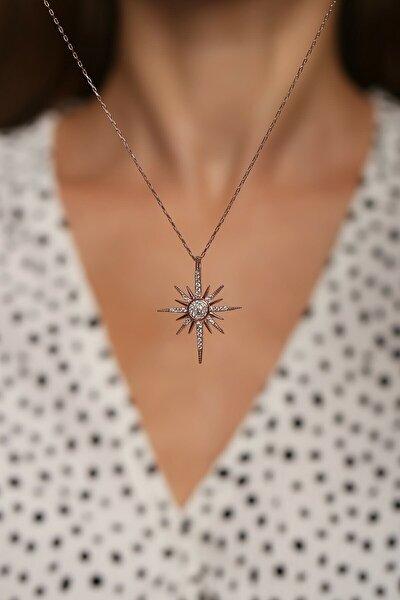 925 Ayar Gümüş Rose Sirius Yıldızı Kolye