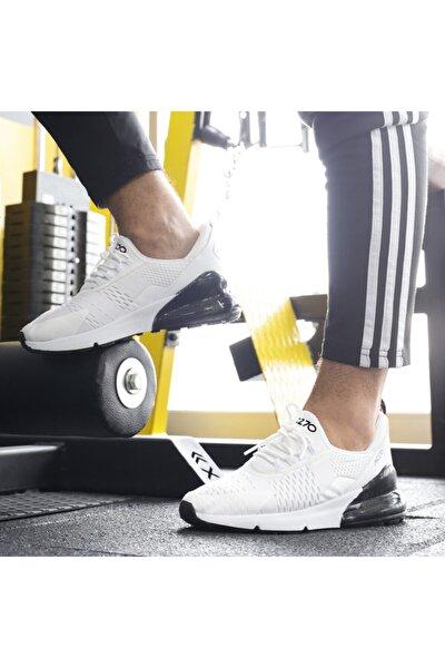 Unisex Günlük Yürüyüş Koşu Beyaz Air File Sneaker Spor Ayakkabı