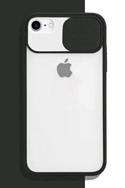Iphone 6 Plus 6s Plus Uyumlu Sürgülü Kamera Korumalı Silikon Kılıf