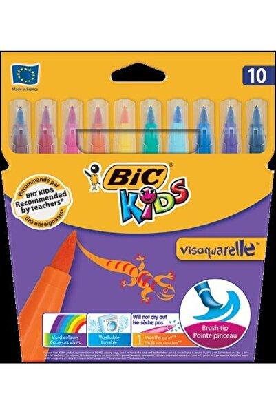 Kids Visaquarelle Fırça Uçlu Keçeli Boya Kalemi 10 Renk