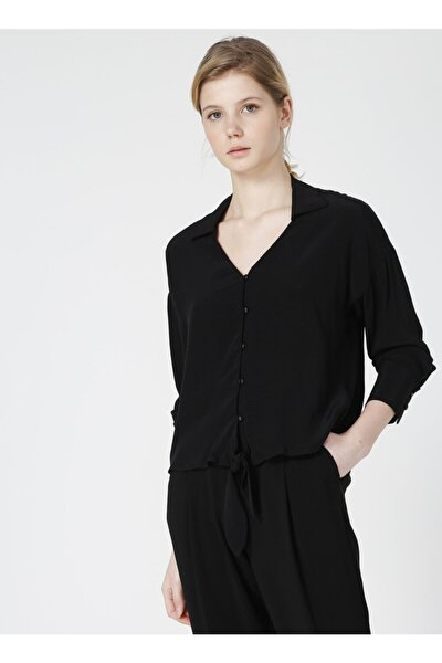 Sinbad Siyah V Yaka Kadın Bluz