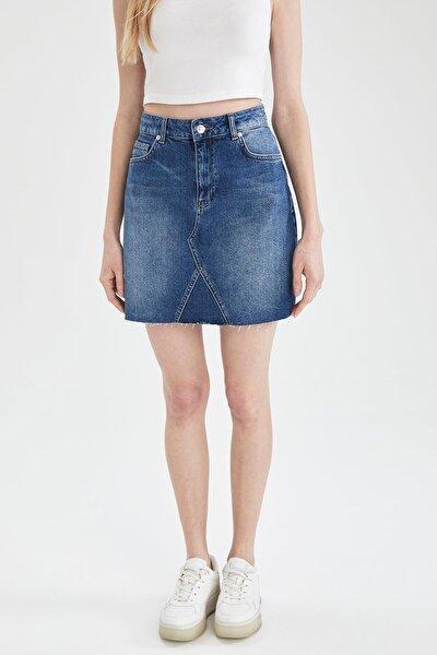 Kadın Mavi Fashion Fit Jean Etek L3592AZ.19AU.NM39