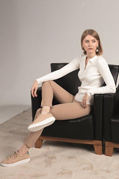 Pantolon, Ön Ütü Hattı Dikiş Detaylı, Arka Paça Üstü Metal Fermuarlı