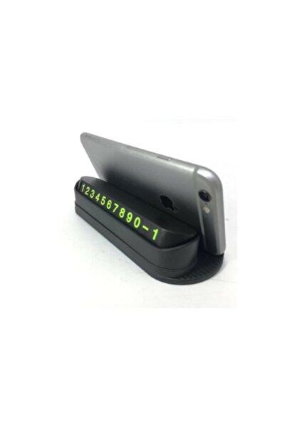 Fosforlu Acılır Kapanabilir Numaratör Ön Torpido Üstü Telefon Numarası Göstergesi Araba