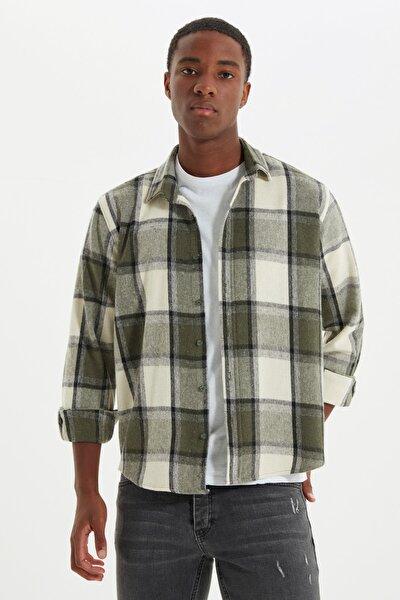 Haki Erkek Oduncu Regular Gömlek TMNAW21GO0730