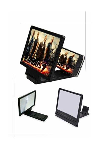 Büyük Boy Ekran Büyüteci 3d Siyah Telefon Projeksiyonu Telefon Ekran Büyütücü