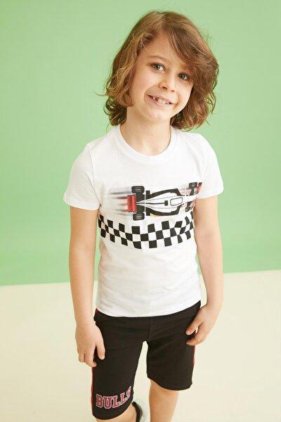Erkek Çocuk Dokunmatik Işıklı Ve Sesli Kısa Kollu Tişört
