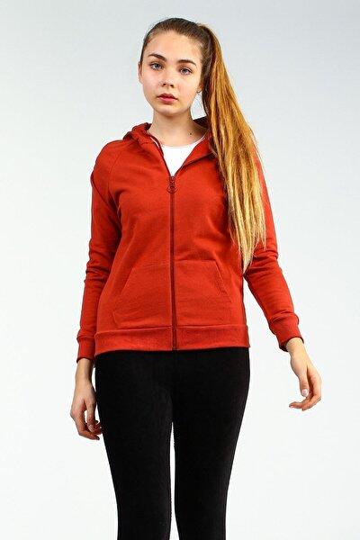Kadın Kiremit Regular Sweatshirt Yoga Ucb150441a16