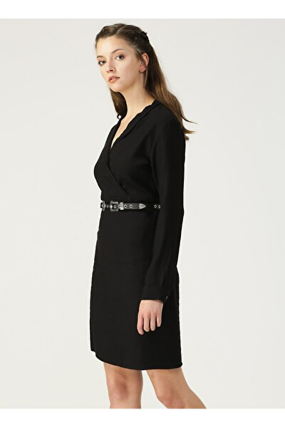 Limon Siyah Elbise