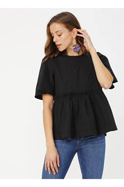 Kadın Siyah Bluz 504709795
