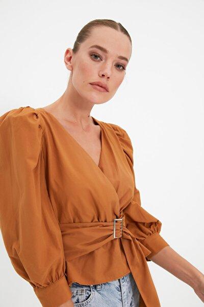 Camel Bağlama Detaylı Bluz TWOAW20BZ0923