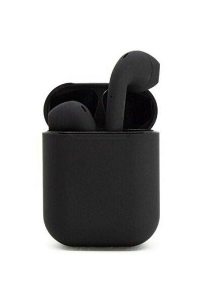I12 Siyah Iphone Android Uyumlu Universal Bluetooth Kulaklık Hd Ses Kalitesi