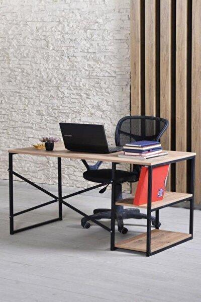 120x60 Cm Bilgisayar Masası Çalışma Laptop Ofis Masası Ceviz