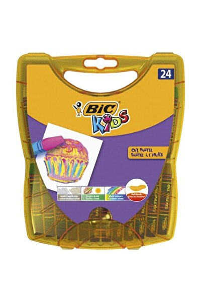 Kids 24 Renk Plastik Kutu Yağlı Pastel Boya