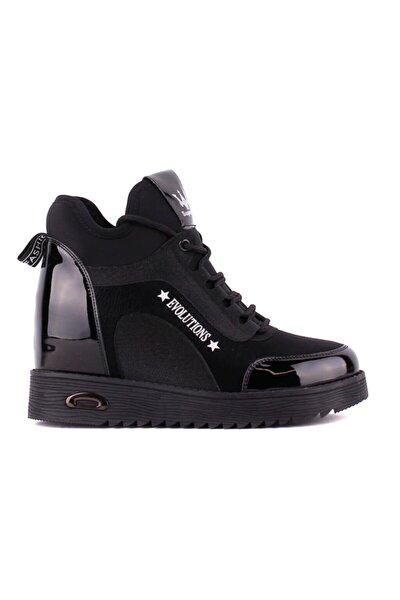 - Siyah Gizli Topuk Kadın Ayakkabı