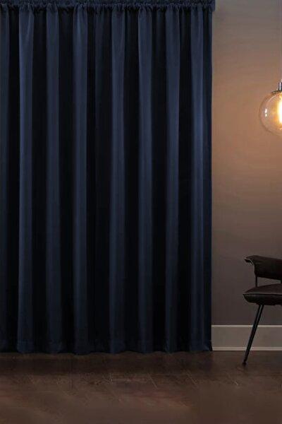 Blackout Işık Geçirmez Fon Perde V-13 Lacivert Pilesiz Ekstraforlu Karartma Güneşlik