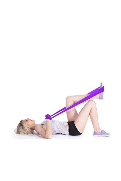 Pilates Bandı Güç Lastiği Yoga Bandı Orta Direnç 90x7.5 Cm