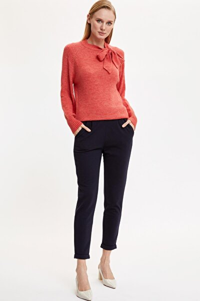 Kadın Lacivert Beli Lastikli Dokuma Pantolon N4067AZ.20SP.NV30
