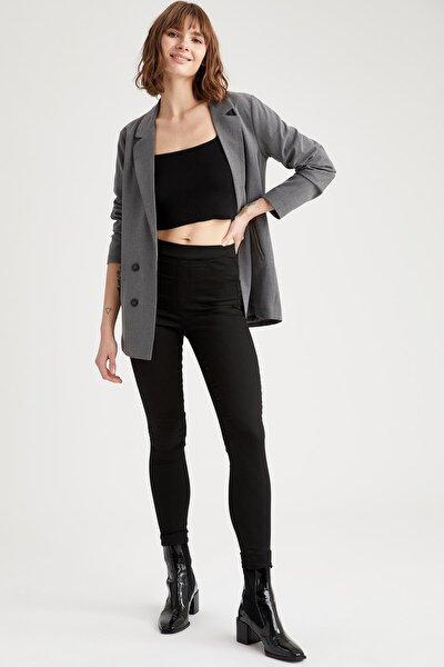Kadın Siyah Regular Fit Basic Dokuma Pantolon N8225AZ.20SP.BK27