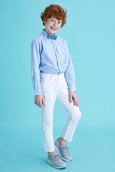 Erkek Çocuk Beyaz Regular Fit Basic 5 Cepli Dokuma Pantolon M5171A620SPWT
