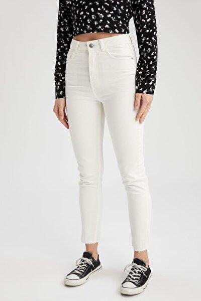 Vintage Skinny Fit Yüksek Bel Jean Pantolon