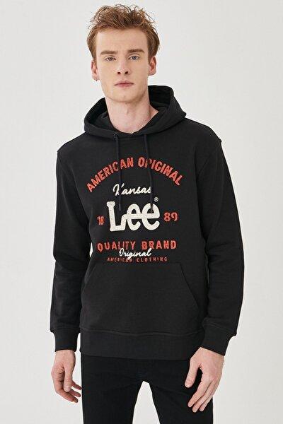 Regular Fit Normal Kesim %100 Pamuk Kapüşonlu Sweatshirt