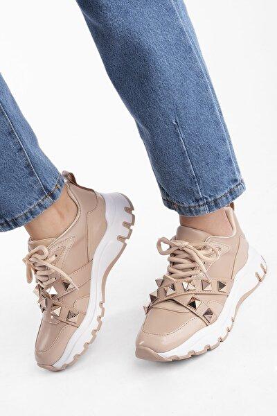 Kadın Kalın Taban Troklu Sneaker Spor Ayakkabı Yetilabej