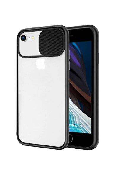Iphone 6 Plus 6s Plus Uyumlu Slayt Kamera Lens Korumalı Sürgülü Mat Telefon Kılıfı