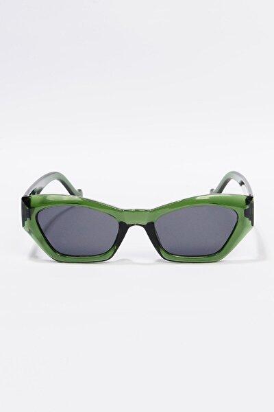Kadın Yeşil Retro Cat Eye Güneş Gözlüğü