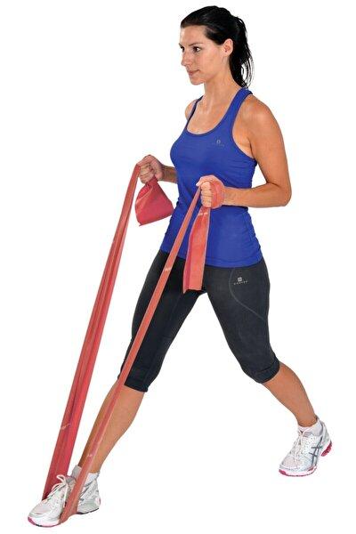2,5 mt Kırmızı Orta Sert Direnç Lastiği Egzersiz Pilates Bandı