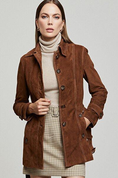 Rosabel Kadın Deri Süet Ceket