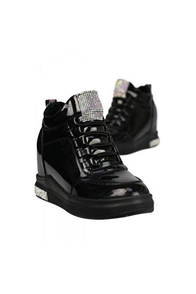 Kadın Taş Detaylı Gizli Dolgu Ayakkabı