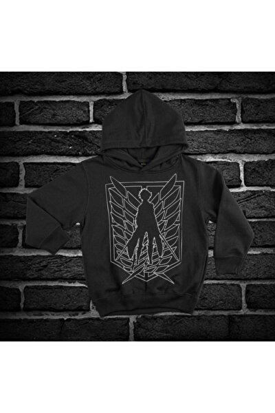 Attacortitan Baskılı Siyah Unisex Sweatshirt