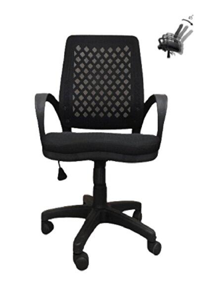 Ofis Sandalyesi Siyah Petek