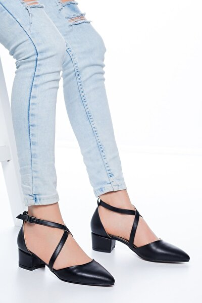 Lexon Topuklu Cilt Ayakkabı Siyah
