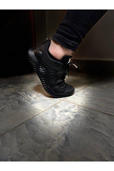 Erkek Siyah Unisex Sneaker Spor Ayakkabı Takax0132
