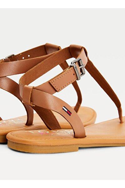 En0en01316gu9 Kemerli Kahverengi Kadın Parmak Arası Sandalet