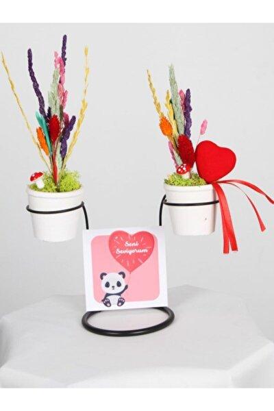 Seni Seviyorum Dekoratif Kurutulmuş Çiçekler
