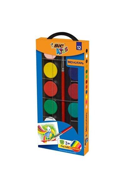 Kids 12 Renk Kutu Sulu Boya