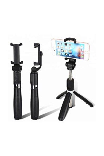 Selfie Çubuğu Aparatı Bluetooth Uzaktan Kumandalı Ayaklı L01