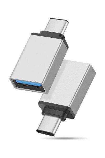 Usb To Type-c  Dönüştürücü Otg Çevirici Adaptör Metal