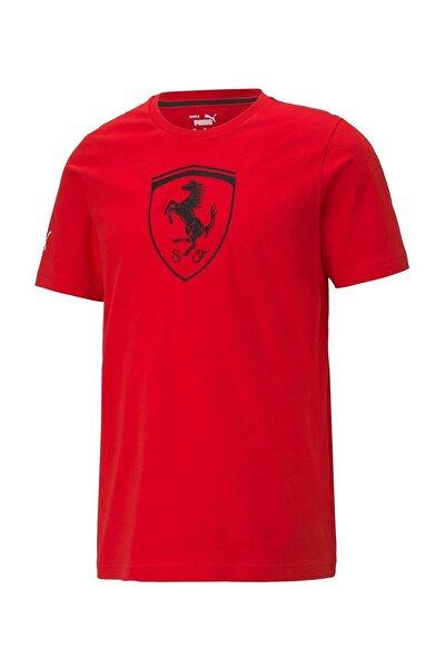 FERRARI RACE BIG SHIELD T Kırmızı Erkek T-Shirt 101085594