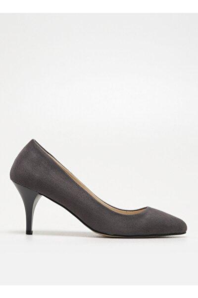 Gri Topuklu Ayakkabı