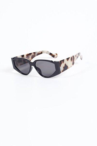 Daisy Cat Tasarım Güneş Gözlüğü - Siyah