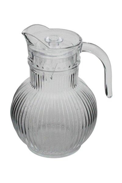 Gravürlü Cam Sürahi 1800 ml